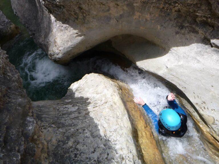 Canyoning toboggan