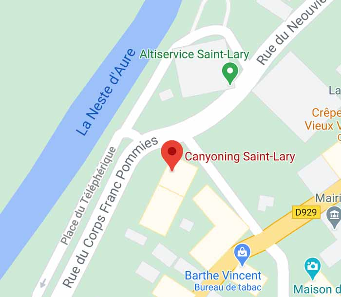 canyoning-saint-lary map